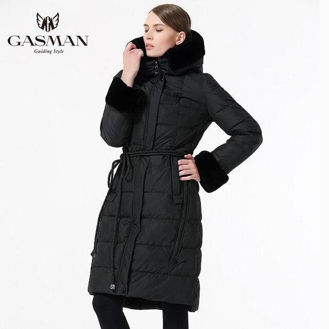 d24eb581cec22 GASMAN abrigo largo de plumón para mujer invierno 2018 Parka de Invierno  para mujer chaqueta abrigo