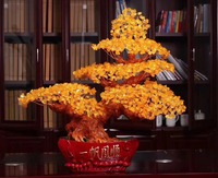 Wholesale Gemstone Citrine Healing Trees yellow crystal tree for decoration