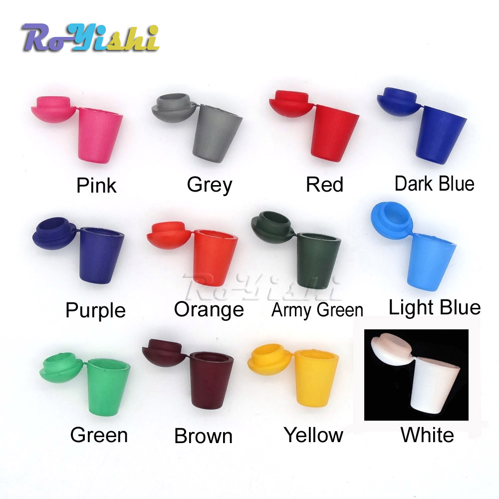 1000pcs pack Colorful Cord Ends Bell Stopper With Lid Lock Plastic Toggle Clip For Paracord Clothes