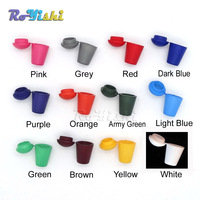 1000pcs/pack Colorful Cord Ends Bell Stopper With Lid Lock Plastic Toggle Clip For Paracord Clothes Bag Sports Wear Shoe