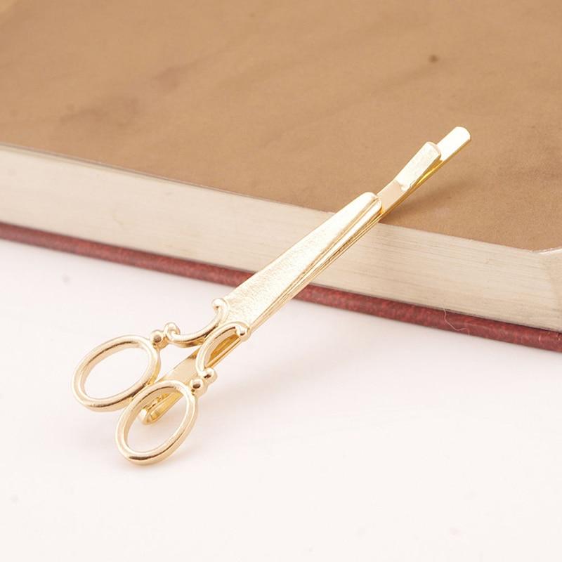 Apparel Accessories ... Headwear ... 32791247163 ... 3 ... Sale Fashion 1 Pc Women Chic Golden Silvery Scissors Shape Hair Clip Hair Pin Headwear ...