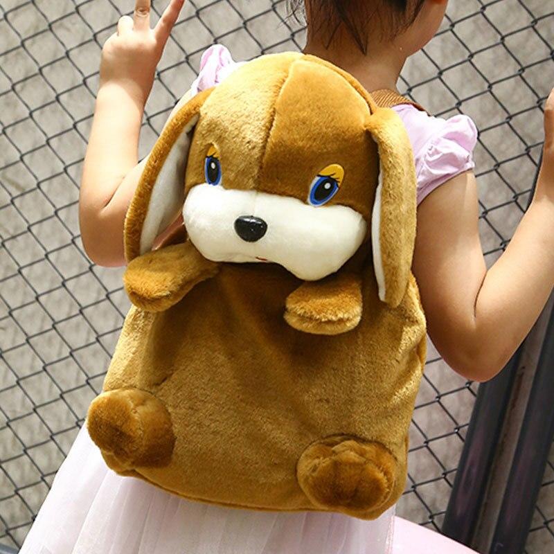 AnpassungsfäHig Kinder Kindergarten Schultaschen Mädchen Modelle Jungen Plüsch Nettes Mini Hunde Koreanischen Rucksack
