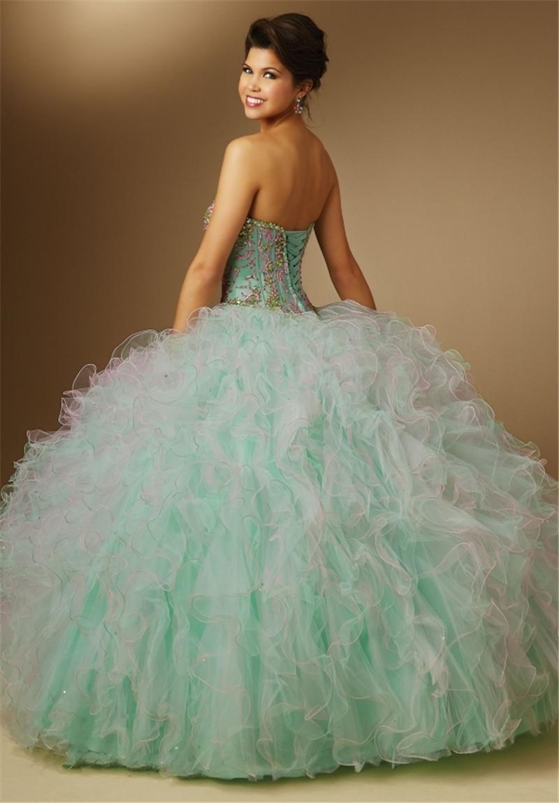 Aliexpress.com : Buy Mint Green Quinceanera Dresses 2015 Vestidos ...