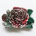 Мужчины Пряжки Ремня Розничная Западная Цветок Розы Поясная Пряжка Абсолютно Новый В Наличии Бесплатная Доставка