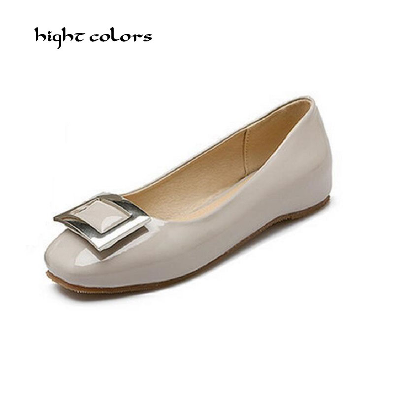 hight colors 31~48 Size Brand New Arrival 2017 Spring and Autumn Women's Loafers Women Flat Heel Shoes Boat Shoes Casual DXM39 spring and autumn new women fashion shoes casual comfortable flat shoes women large size pure color shoes