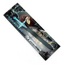 "7.08"" Sword Art Online SAO Kirito Sword Dark Repulsor Weapon Figure Cosplay Keychain Key Ring Gift"
