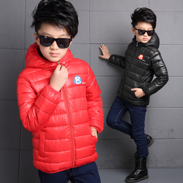 Бесплатная доставка Высокое качество для Мальчиков детские Зимние куртки Детские вниз пальто утолщение верхней одежды 7-14 лет