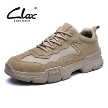 CLAX Mans Shoes 2019 Spring Autumn Suede Leather Shoe Male Casual Mens Walking Footwear Fashion Sneakers