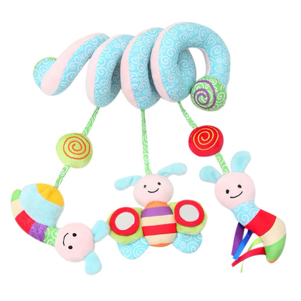 Baby Toys 0-12 Months Stuffed Stroller Toys Animal Baby Bed Hanging Educational Baby Rattle Toys Rattles toy baby stroller comfort stuffed animal rattle mobile infant stroller toys for baby hanging bed bell crib rattles toys gifts