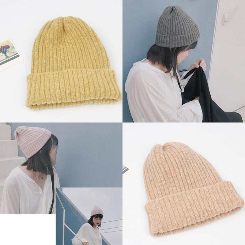 Women Ladies Winter Beanie Hat Warm Knitted With Small Crystals Large Pom  Pom Hats 1b22dc3b8e9