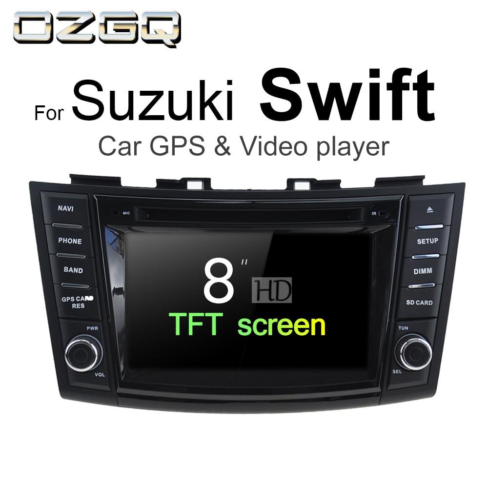 OZGQ Android 7.1 Car DVD Player For Suzuki Swift / Swift Sport 2012 2018 Auto GPS Navigation BT Radio TV Audio Video Stereo