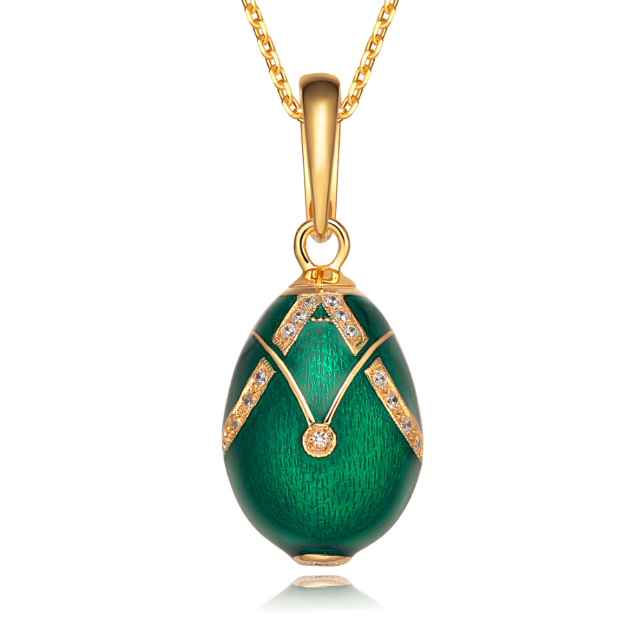 Classic Really 925 Sterling Silver Vintage Egg Pendant Charm Crystal Rhinestone Necklace Noble Unique Easter Bonus Egg To Women