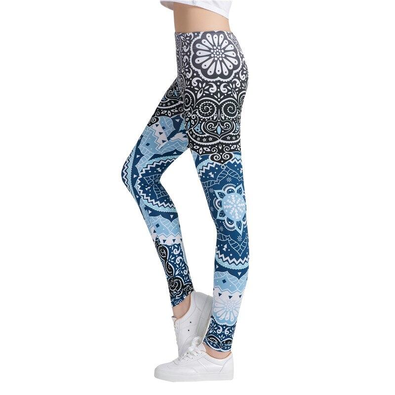 Women Fitness Leggings Fashion Legging Aztec Round Ombre Printing Leggins Female Legins Sexy Pants High Waist Trouser leggings