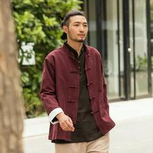 China style cotton men improved costume long sleeved jacket Chinese and Hanfu coat gown lay clothes