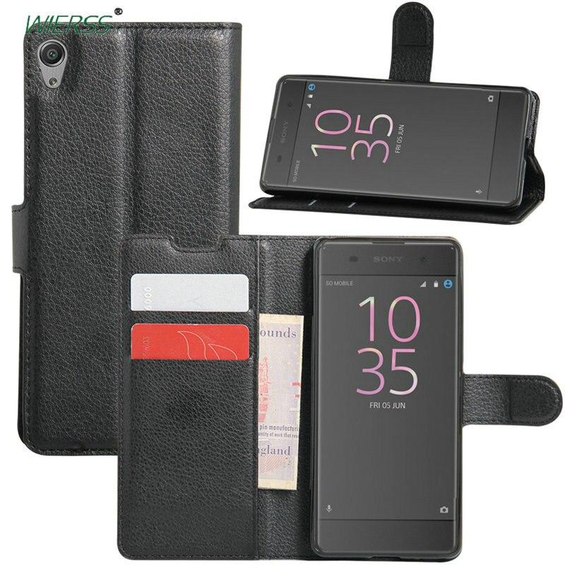 Роскошный кожаный чехол-книжка для Sony Xperia XA Dual F3111 F3112 F3113 5 дюймов, задняя крышка, чехол-бумажник, футляр, карта, подставка