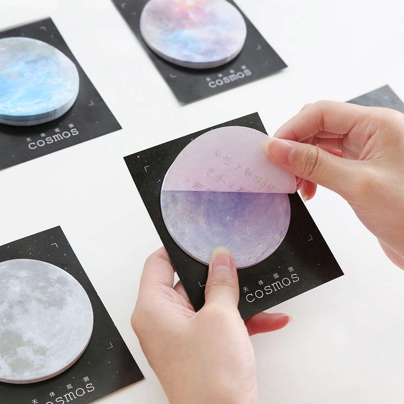 Cute Space Paper Sticky Notes Planet Memo Pad For Kids Gift Creative Stationery Office School Supplies Label Stickers