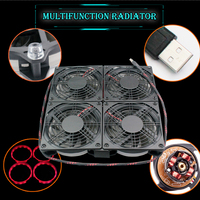 Laptop / Xbox One / PC four fan combination 120mm * 25mm USB LED High Speed Low Noise Fan Router Cooling Fan 5V DC DVR cooler