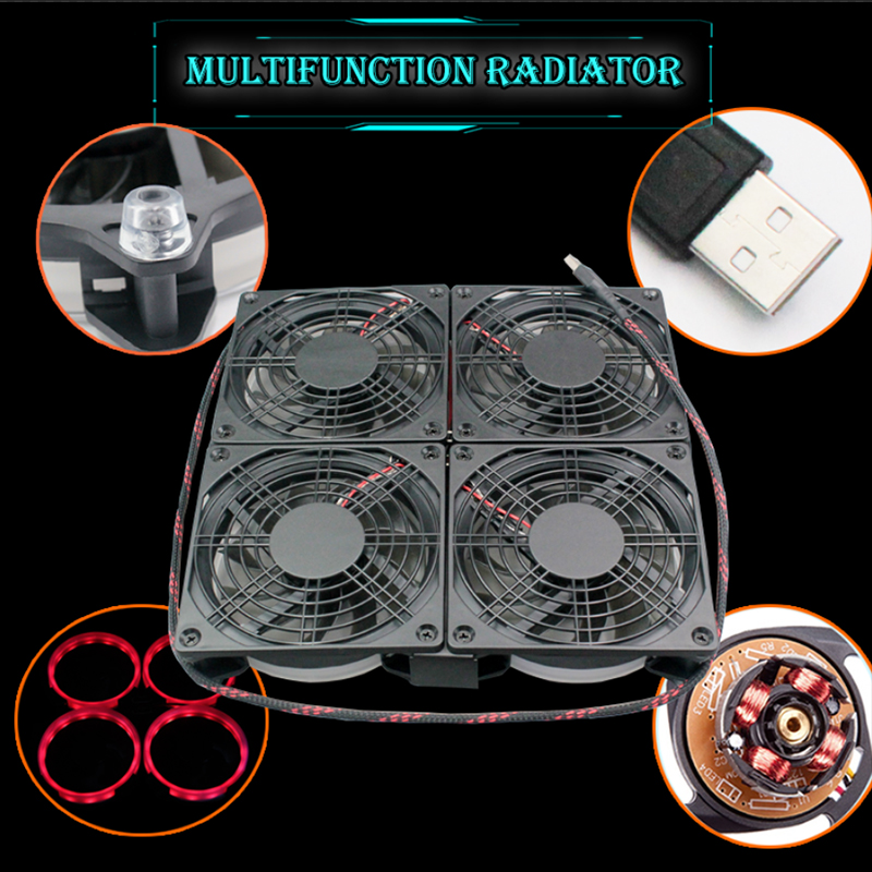 TV BOX android 7.1 Cooling LED Fan Silent 120mm DC 5V USB Fan Power 120*120*25mm Quiet CPU Heatsink Router Cooler PC case fan for delta 12cm 1225 12025 120 120 25mm fan ball bearing fan dc12v computer case fan