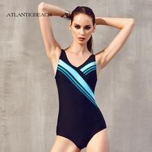 Atlanticbeach padded professional One Piece Swimsuit Sport Monokini Swimsuits Backless Women Swimwear Sports Training Body Suit