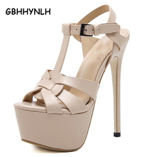 Купить с кэшбэком women summer nude pumps women party shoes platform pumps wedding shoes stiletto heels open toe high heels dress shoes LJA76