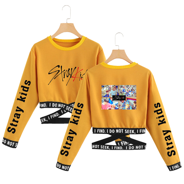 STRAY KIDS CROP TOP SWEATSHIRT (6 VARIAN)