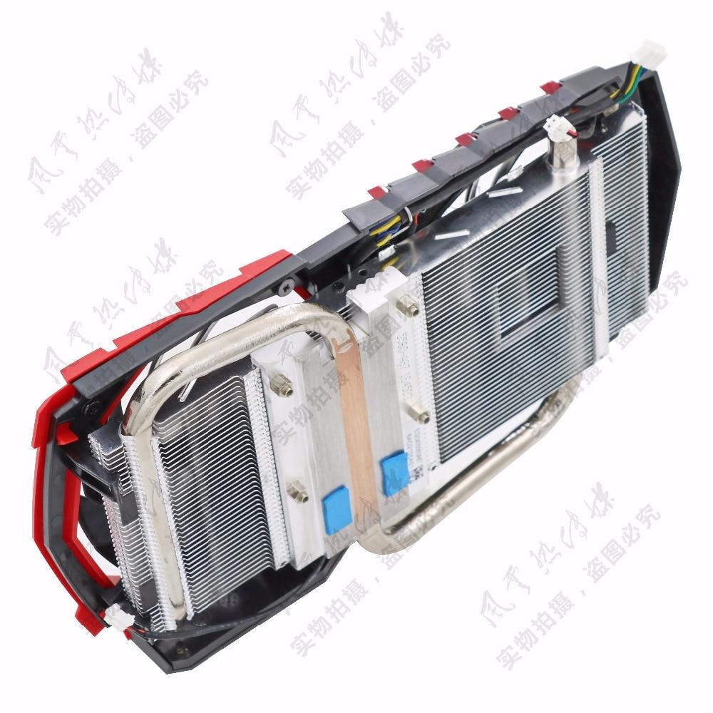 Original for MSI GTX1050Ti/GTX1050 GAMING red dragon video card radiator with dragon spirit lamp FONSONING