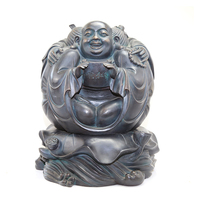 Decorative bronze copper art craft laughing buddha statue sculpture for sale