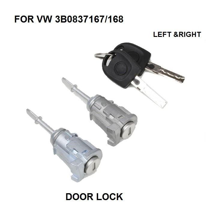 DOOR LOCK COMPLETE FOR VW PASSAT B5 LUPO /FOR SEAT AROSA DOOR LOCK SET 2 KEYS + 2 BARRELS FRONT LEFT&RIGHT NEW
