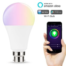 2018 Hot Sale 7W E27 RGBW WIFI Smart Bulb Work with Alexa/Google Home Voice Control Light