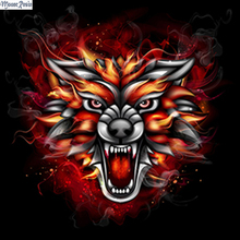 MOONCRESIN 5D Diamond Mosaic Fierce Wolf Pattern Sticker Full Square Embroidery Diy Painting Decoration Animal