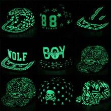 IMucci Graffiti gorra de béisbol Hip Hop luz fluorescente Snapback gorras  regalo para hombres mujeres chica 2f004c24faa