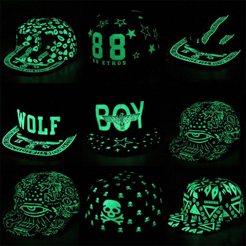 iMucci Graffiti   Baseball     Cap   Hip Hop Fluorescent Light Snapback   Caps   Gift for Men Women Girl Noctilucence Hats Boy Luminous Hat