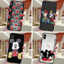 Mickey Mouse For iPhone X XR XS Max 5 5S SE 6 6S 7 8 Plus Oneplus 5T Pro 6T phone Case Cover Funda Coque Etui funda capinha capa
