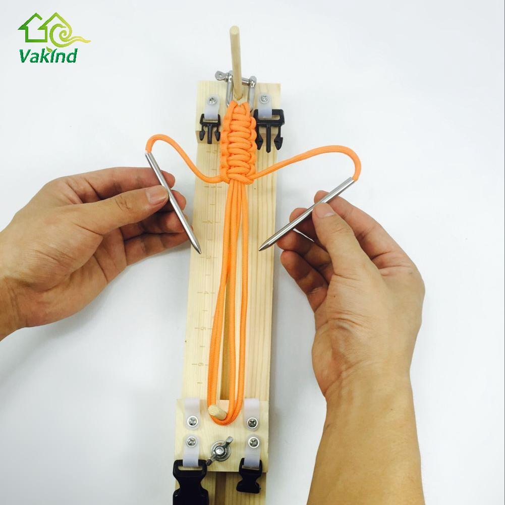 1 PC Bracelet Maker BRICOLAGE gabarit Solide Bois Paracord Bracelet Maker Noeud Tressé Parachute Cordon Bracelet Tissage Outils