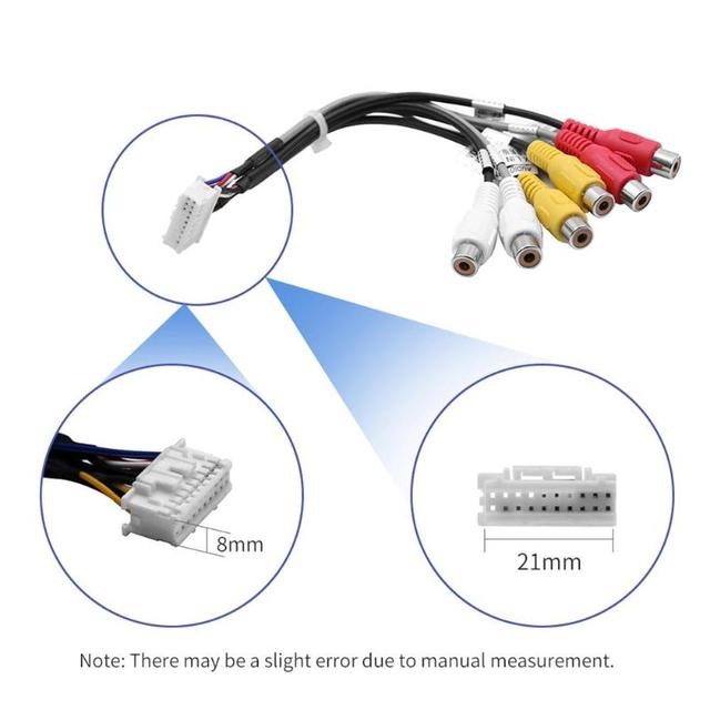 20 Pin Plug Car Stereo Radio RCA Output Wire Harness Wiring Connector Adaptor Cable
