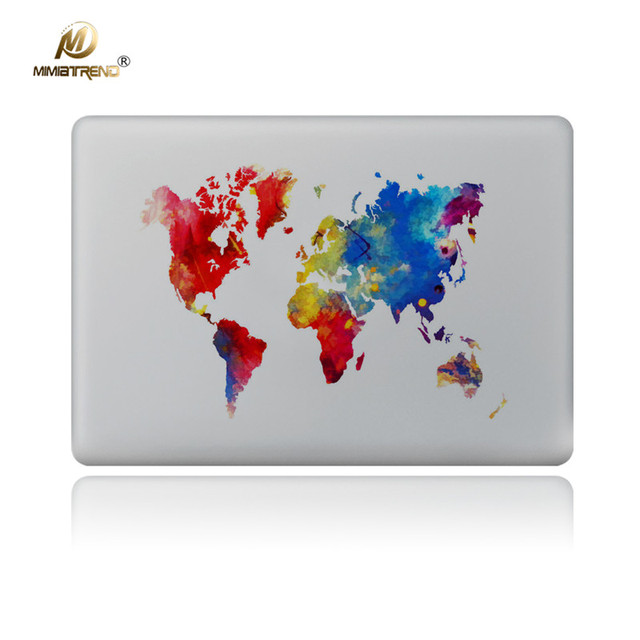 Mimiatrend world map vinyl decal sticker for apple macbook pro air mimiatrend world map vinyl decal sticker for apple macbook pro air pro retina 11 13 15 gumiabroncs Gallery
