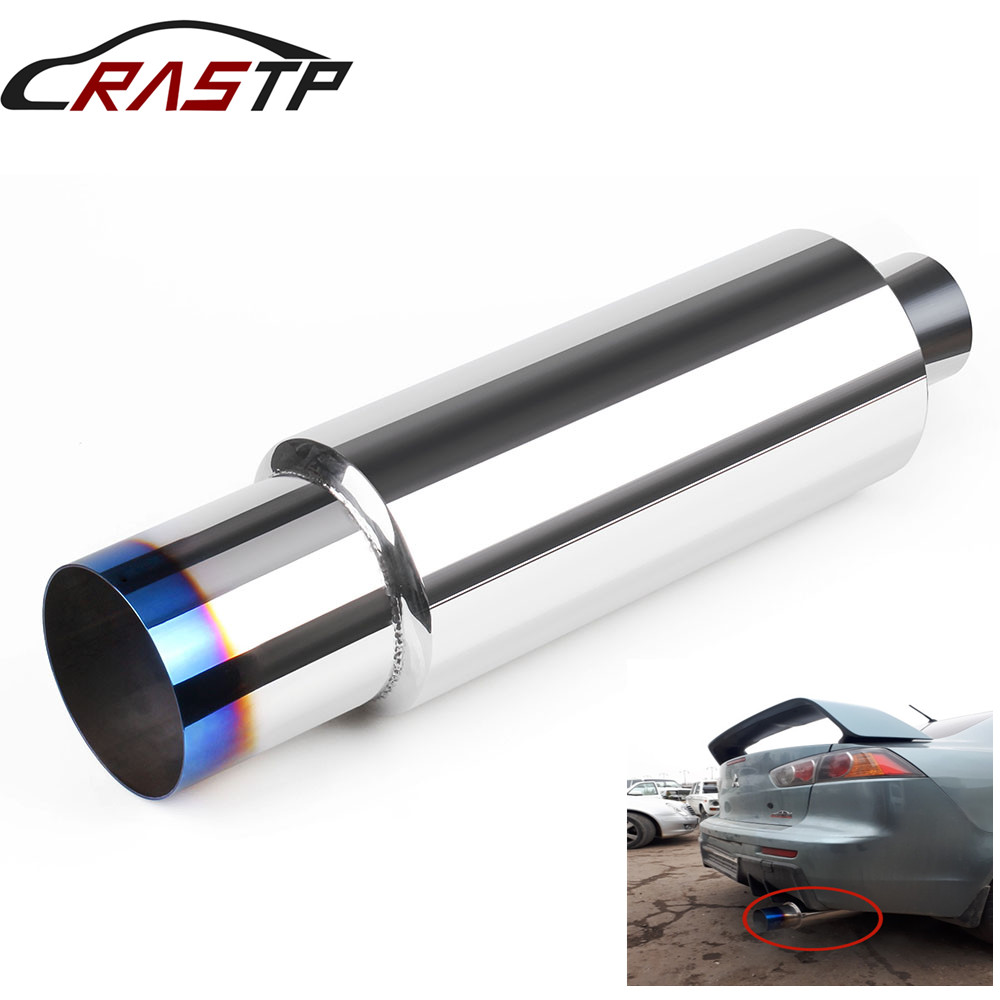 RASTP-Universal  High Quality Car Exhaust Pipe Mufflers Tail Stainless Steel Exhaust Systems Racing Mufflers RS-CR1010 steel casing pipe