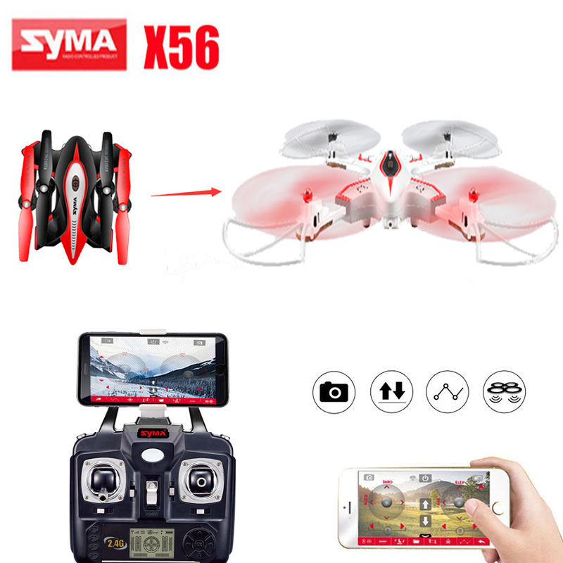 Syma X56 RC Control Drone Helicopter Drones Aircraft Quadcopter Upgraded Foldable Pocket Drone original rc helicopter 2 4g 6ch 3d v966 rc drone power star quadcopter with gyro aircraft remote control helicopter toys for kid
