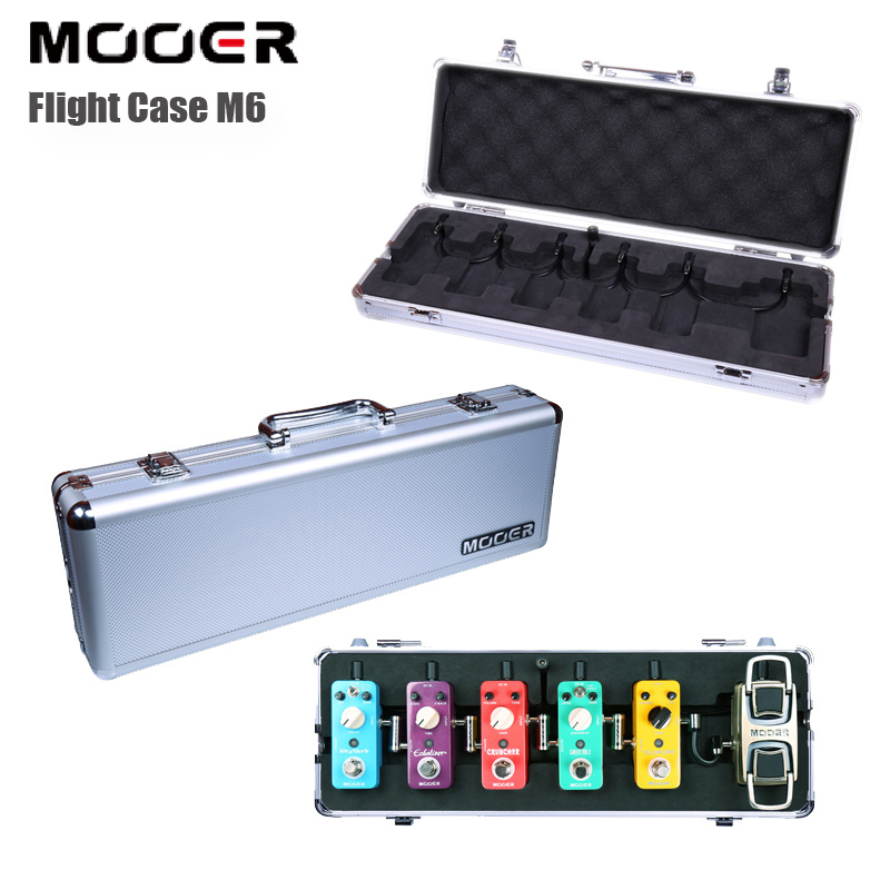 MOOER Electric Guitar Effect Pedal Case / Firefly M6 Flight Case for Micro Series Pedals and Mini Pedals Portable mini micro battery powered portable guitar amp classic marshall guitar portable and lightweight