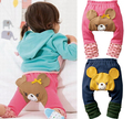 Crianças Da Criança Do Bebê Da Menina do Menino Roupas Collants Leggings Meninas Urso Bonito Calças PP Calças Crianças Roupas ropa de Bebe