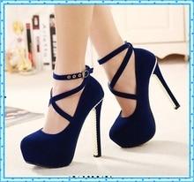 women platform shoes pumps ladies wedding shoes pumps womens shoes red bottom high heels rhinestone shoes black red blue C807