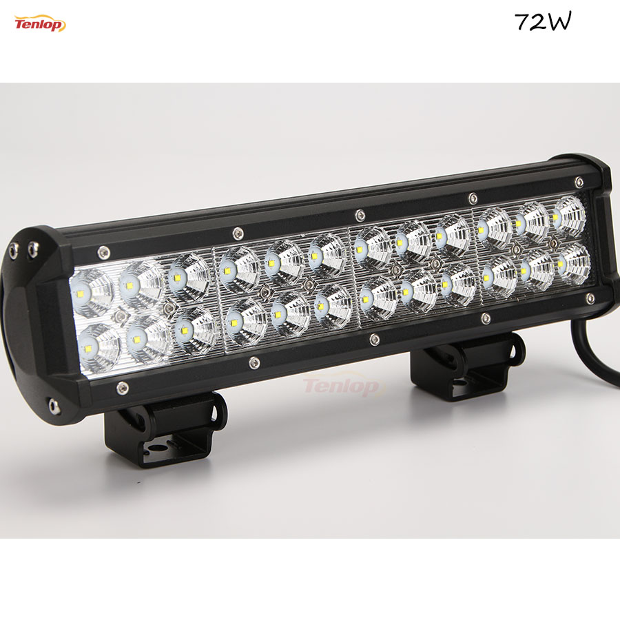 Hot Sale 12 Inch 72W LED Light Bar Dual Rows For Offroad 4*4 SUV ATV Tractor new 15 inch single row 12 3w 36w led light bar for offroad 4 4 suv atv tractor
