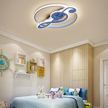Modern music logo ceiling light creative art deco LED lamps for boy children girl bedroom lamp household Eye protection lamp E27 led ceiling lamp children bedroom light main bedroom light boy girl warm romantic star cartoon shaped lights creative