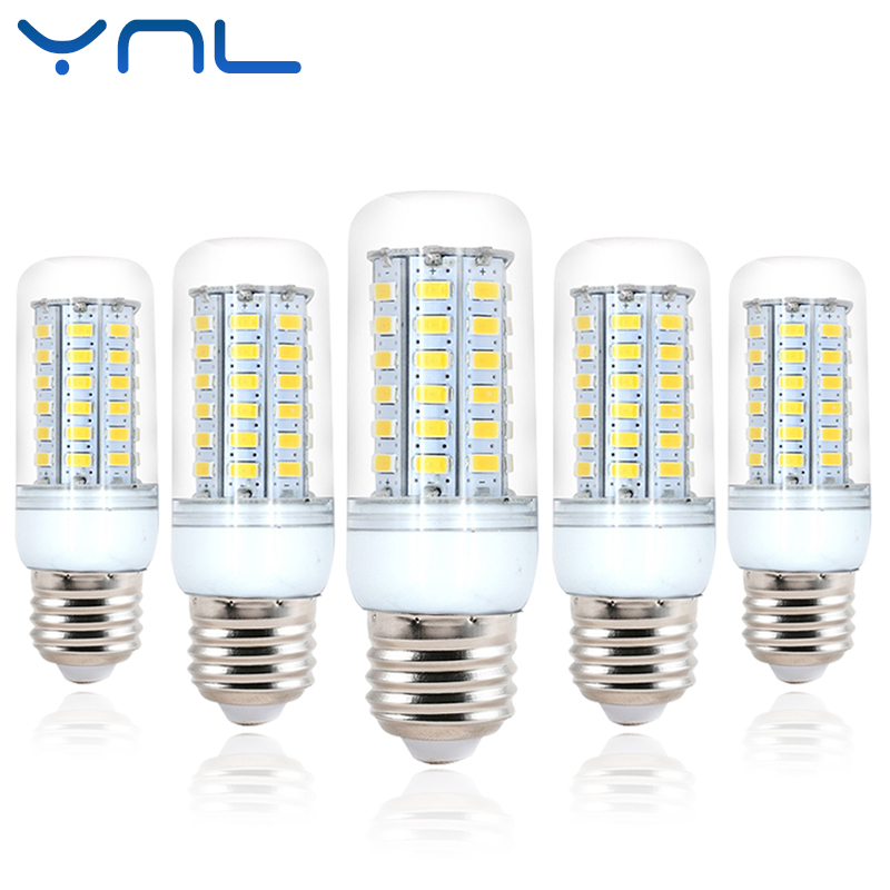 Ynl E27 lampada LED Lamp Corn Bulb SMD5730 220V 24 36 48 56 69 LEDs Chandelier Candle Lighting Energy saving for Home Decoration smart bulb e27 7w led bulb energy saving lamp color changeable smart bulb led lighting for iphone android home bedroom lighitng
