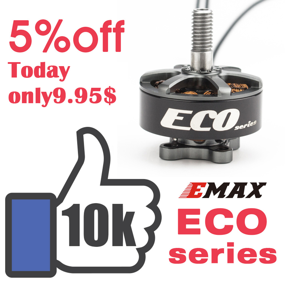 Official Emax brushless motor for FPV Racing Drone Emax Eco Series Motor ECO 2306 1700KV 2400KV