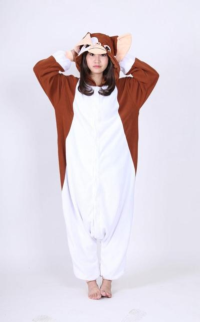 d7ef503190 Kigurumi New Brown Gremlins Gizmo Onesies Adult Pyjamas Pajamas Halloween  Carnival Party Christmas Cosplay Costume