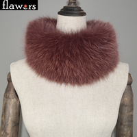 DIY Real Fur Scarf Women Natural Fox Fur Ring Scarves Winter Knitted Genuine Fox Fur Neckerchief Luxury Warm Russian Fur Shawls