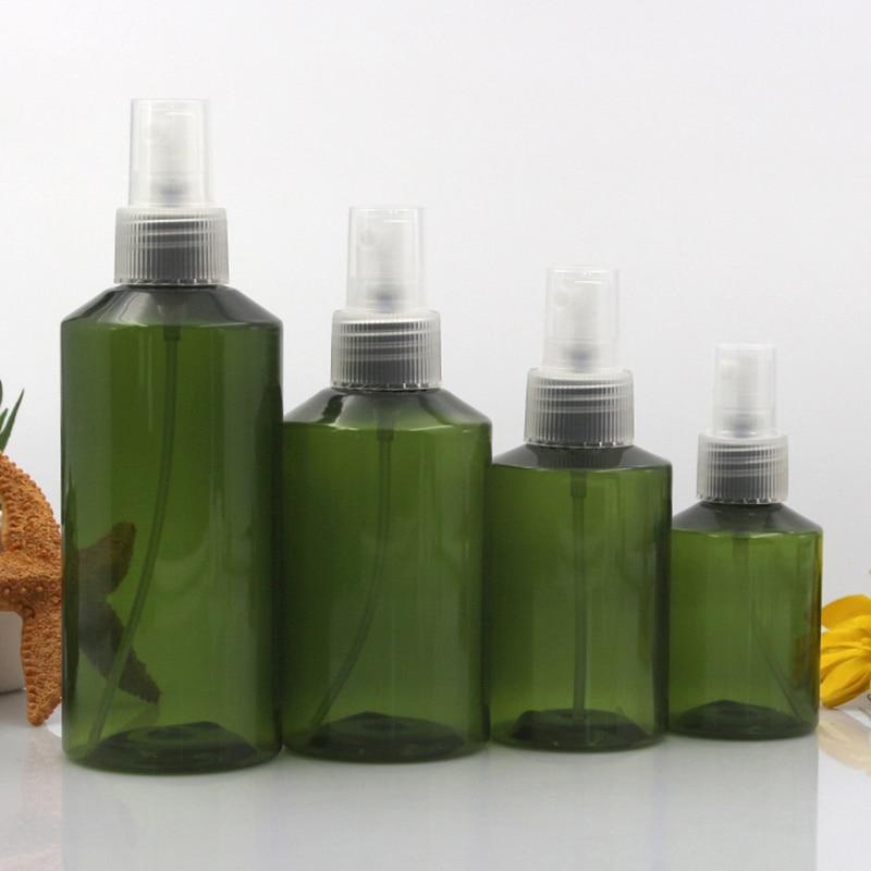 10pcs 50ml 100ml 150ml 200ml Plastic Dark Green Empty PET Spray Bottles with 3 Colors Sprayer Light Avoiding Mist Bottle Travel-2