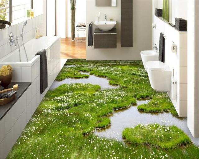 Beibehang Traum Mode Benutzerdefinierte Pvc Tapete Pflanze Blume Gras Innen Schlafzimmer Bad Boden Wallpaper Fur Wande