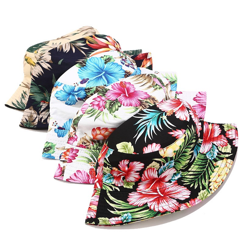 Printed bird Bucket Hat Women Outdoor Sports Hip Hop Cap Men Soft Flat hats Casual Summer Sun Cotton Fishman Panama